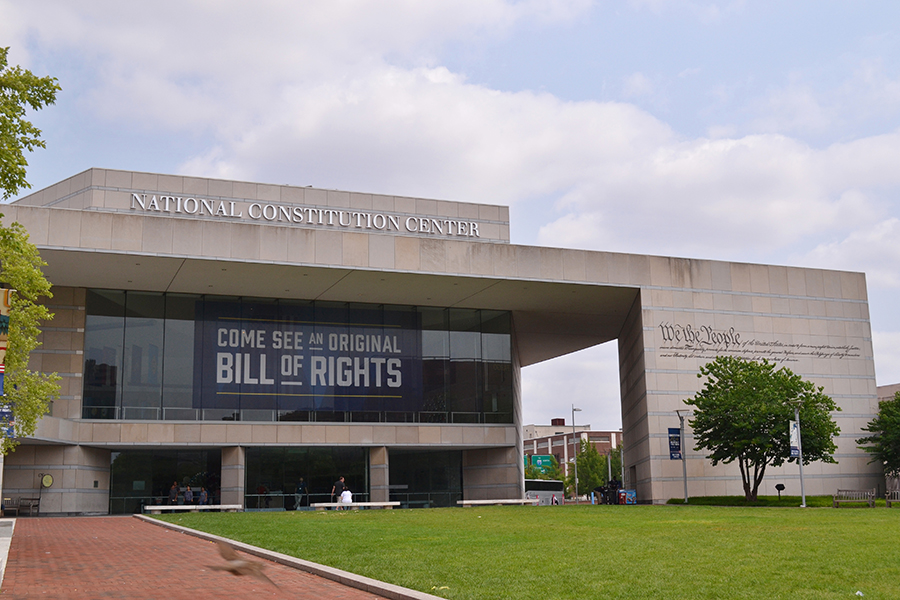 The National Constitution Center in Philadelphia, Pennsylvania.