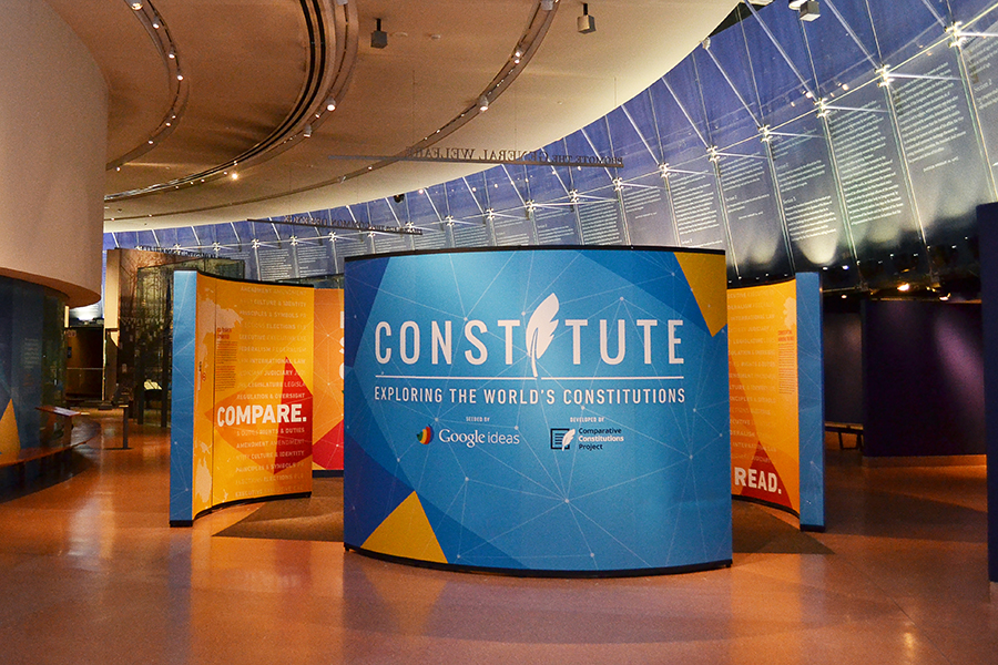 The Constitute exhibition in the main gallery of the NCC.
