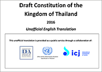Thailand 2016 Draft Constitution