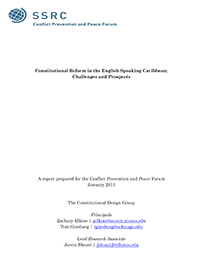 Constitutional Reform in the English-Speaking Caribbean: Challenges and Prospects