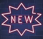 New in shop neon sign vector